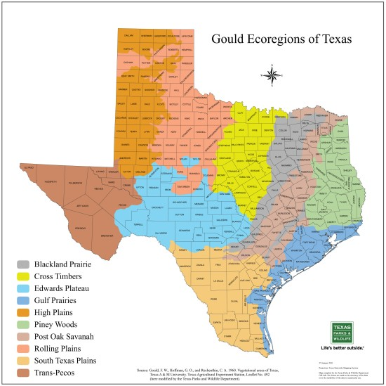 Gould Ecoregions of Texas