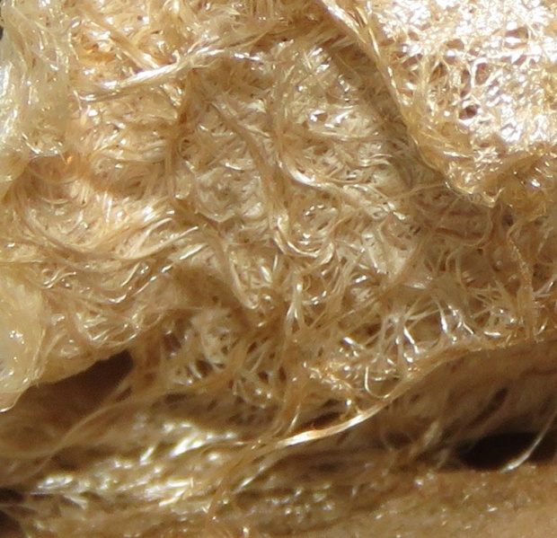 Close-up of strands.