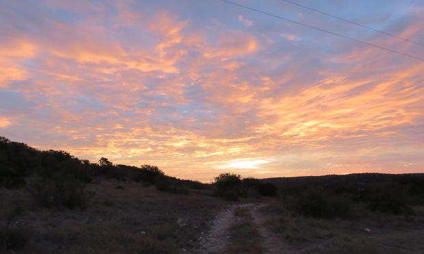 Ranch road, Edwards Plateau, Texas.