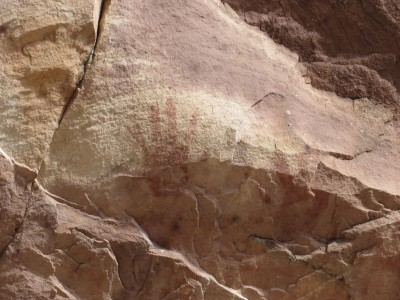 Ancient handprint.