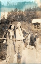 1931, a couple at Salmon Creek Dam, Juneau, Alaska