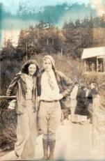1931, a couple at Salmon Creek Dam, Juneau, Alaska