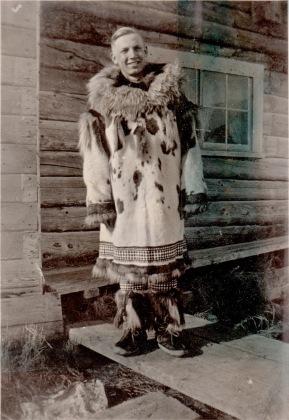 1936 man in parka, Alaska