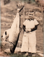 boy with fish, 1934